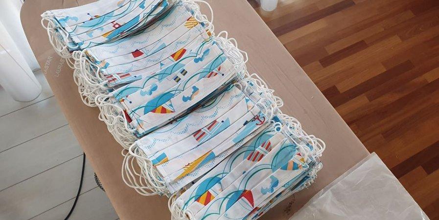 Maseczki dla OSP Hel.